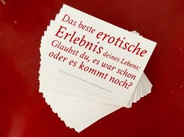 Das beste erotische Erlebnis: war es schon oder kommt es noch? Ulrich Clement